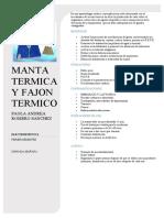 manta termica
