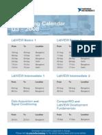 National Instruments Training Calendar Q3