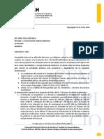 CORRESPONDENCIA AL DECANO INTERNADO 25 DE MAYO 2020