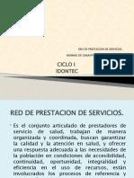 RED DE PRESTACION DE SERVICIOS Y SISTEMA DE GARANTIA Y CALIDADUA 1