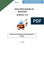 plan de actividades en la empresa de sedacaj