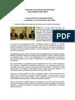 19-01-11 El país demanda de un presupuesto basado en resultados