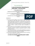 """Ley marco de Autonomías y Descentralización """"Andrés Ibáñez"""", 19 de julio de 2010.pdf"""