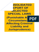 Consolidated Report in Special Penal Laws