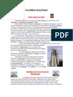 Les edifices de la France