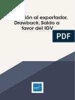 Promocion al exportador Drawback . Saldo a favor del IGV