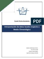 Interpretación de datos locales respecto a Media Climatológica SCVD