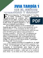 V. Nueva LA LLUVIA TARDÍA 1 PREDICAD Y SANAD
