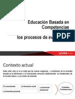 Educación basada en competencias y procesos de evaluación