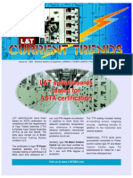 28. L&T Switchboards tested for ASTA Certification (Jan - Mar 03)