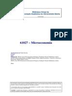 61027 - Microeconomia -  Paulo Nicolau
