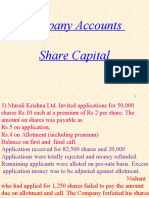 PROBLEMS ON ISSUE OF SHARES