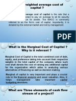What is weighted average cost of capital