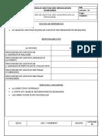 Procédure de gestion des assurances du personnel
