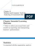 Chapter 10 Statistics and Computer_Tools for Analyzing of Assessment Data