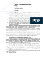 Tema 9.  Managementul calităţii totale.