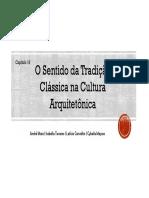 Cap. 16 - O sentido da tradição clássica na cultura arquitetônica