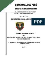 SILABUS ACCIONAR PNP ORDEN PUBLICO