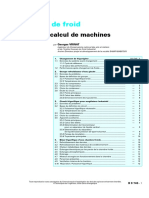 Production de froid_Exemples de calcul de machines