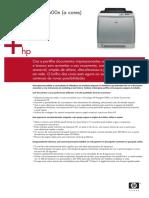 Folheto Informativo Especificações Técnicas Impressora HP 2600n Laser Colorida Color