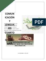 CARTILLA 4 SEC. COMUNICACIÓN Y LENGUAJES