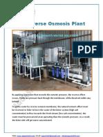 ASWS REVERSE OSMOSIS PLANT