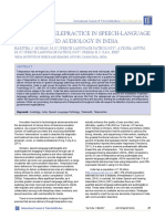 A SURVEY OF TELEPRACTICE IN SPEECH-LANGUAGE PATHOLOGY AND AUDIOLOGY IN INDIA