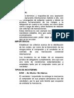 INCOTERMS Y CANALES DE DISTRIBUCIÓN