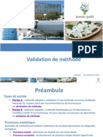 5-6-7- Validation de méthode Bioquality7 avec commentaire