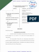 Pliego acusatorio contra María Milagros Charbonier