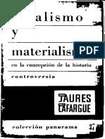 AA. VV. - Idealismo y materialismo en la concepción de la historia (1894-5)