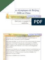 Les jeux olympiques de Beijing 2008