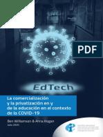 La Comercializacion y La Privatizacion en y de La Educacion en El Contexto de La Covid-19