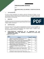 ESPECIFICACIONES TECNICAS FORMULARIOS GESTION 2017