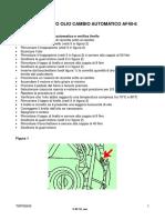 Astra H (05-11) Sostituzione olio cambio automatico