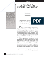 A FUNÇÃO DA ESCRITA NA PSICOSE