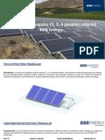 KIT TRIANGULO - 2, 3, 4 PANELES SOLARES