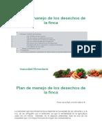 Plan de manejo de los desechos de la finca frainer