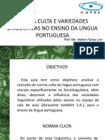 Norma Culta e Variedades Linguítica no Ensino de Português