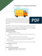 Protocolo para el transporte y el manejo de mercancias