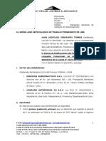 JUAN CERVANTES TORRES - demanda EMPLEADOR CONJUNTO - MYPE - BB SS