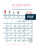 FREE THIGHS & GLUTES CALENDAR - JULY 2020