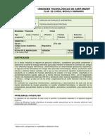 PLAN DE CURSO FUENTES ALTERNATIVAS DE ENERGIA I-2020