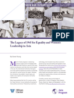 The Legacy of 1945 for Equality and Women's Leadership in Asia
