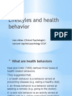 Lifestyles and health behavior