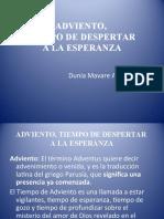 1 ADVIENTO, TIEMPO DE DESPERTAR A LA ESPERANZA