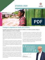 Cicr Retos Humanitario 2020 Balance en Colombia