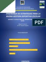 Presentación Estructura Deportiva