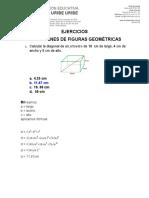 ACTIVIDAD SOBRE VOLÚMENES DE CUERPOS GEOMÉTRICOS
