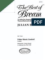 Album - The Best of Bream - Arr Julian Bream